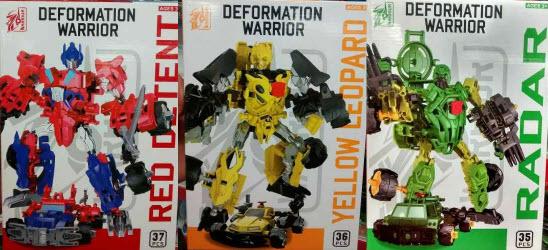 Deformation War Set 3 Transformers