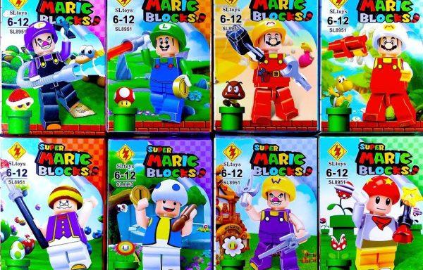 Super Mario Bros Set 8 tipo LEGO