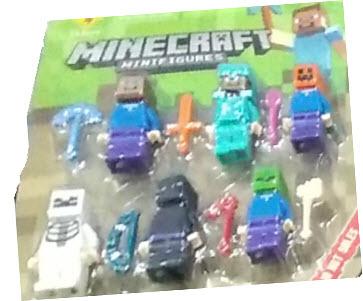 Minecraft set 6 minifiguras