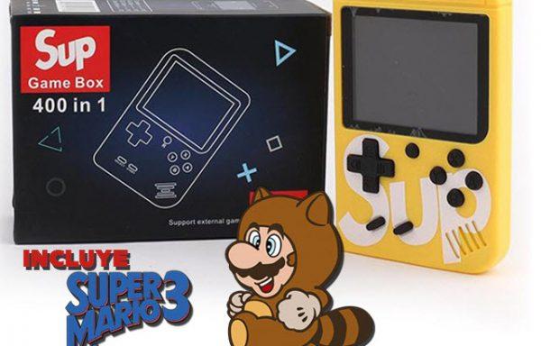 Consola Portatil SupGameBox 400 en 1 (Incluye Super Mario 3)