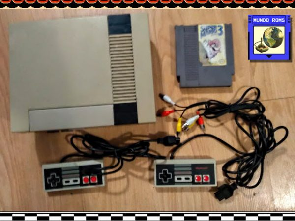 Nintendo NES Original + Super Mario 3 + 2 Controles Originales