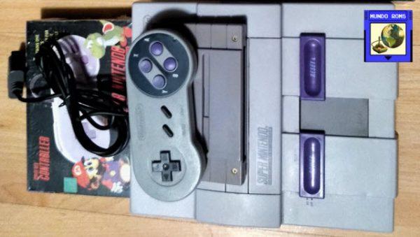 Nintendo SNES Original + Super Soccer + 2 Controles Nuevos