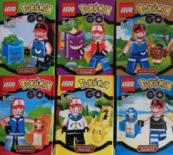 Figuras Pokemon GO Tipo Lego