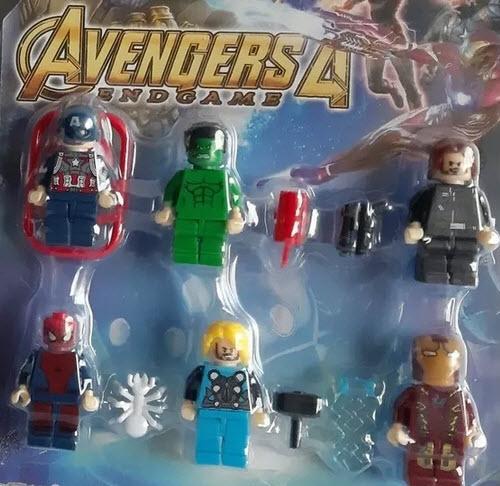Avengers Minecraft set 6 minifiguras