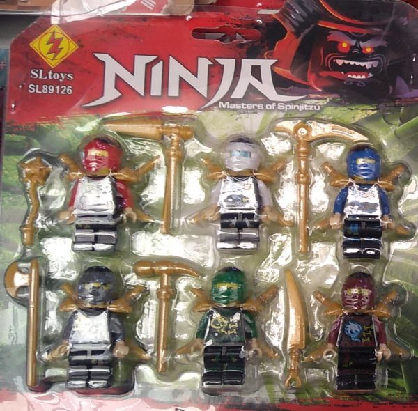 Ninja GO Minecraft set 6 minifiguras