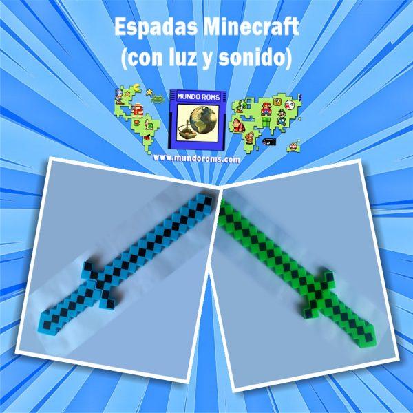 Espada Minecraft con sonido y luces