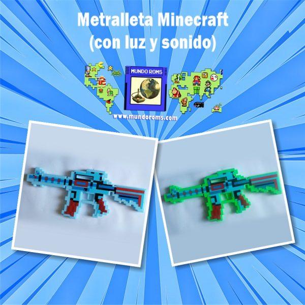 Metralleta Minecraft con sonido y luces