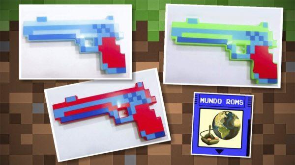 Pistola Minecraft con sonido y luces
